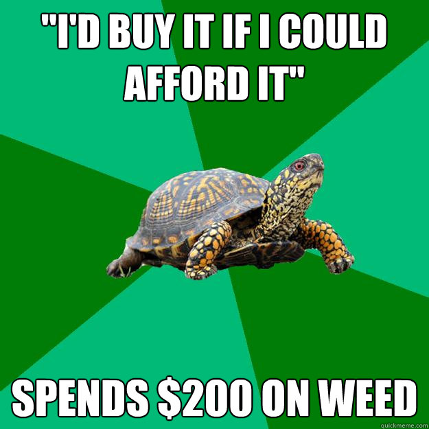 id buy it if i could afford it spends 200 on weed - Torrenting Turtle