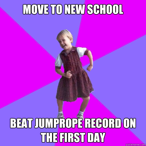 move to new school beat jumprope record on the first day - Socially awesome kindergartener