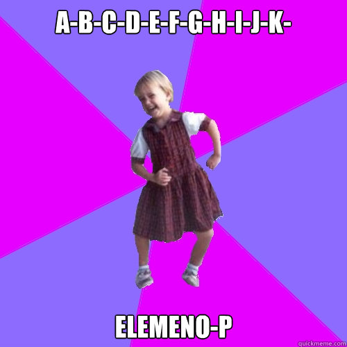 abcdefghijk elemenop - Socially awesome kindergartener
