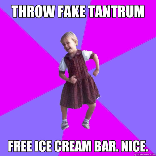 throw fake tantrum free ice cream bar nice - Socially awesome kindergartener