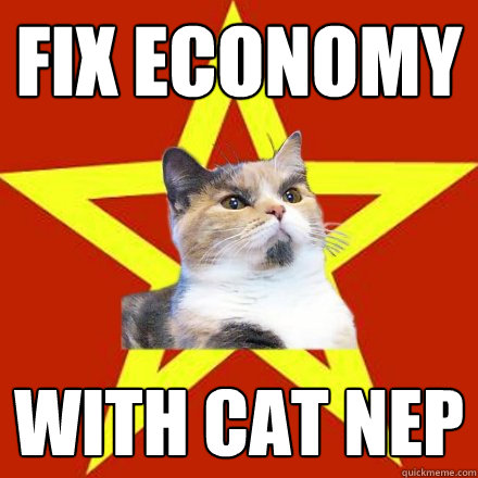 fix economy with cat nep - Lenin Cat
