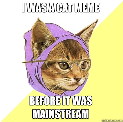 i was a cat meme before it was mainstream - Hipster Kitty