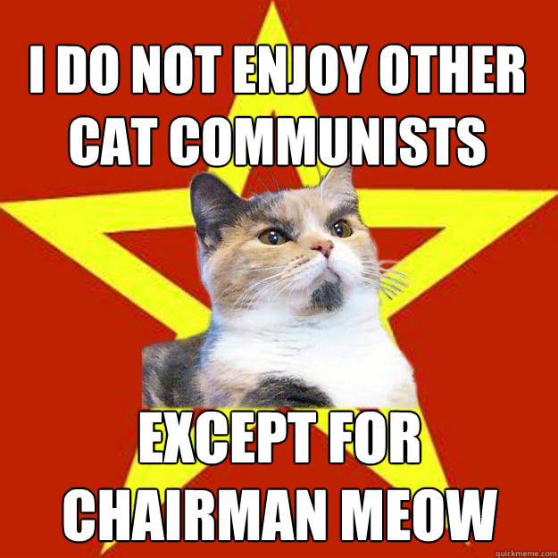 i do not enjoy other cat communists except for chairman meow - Lenin Cat
