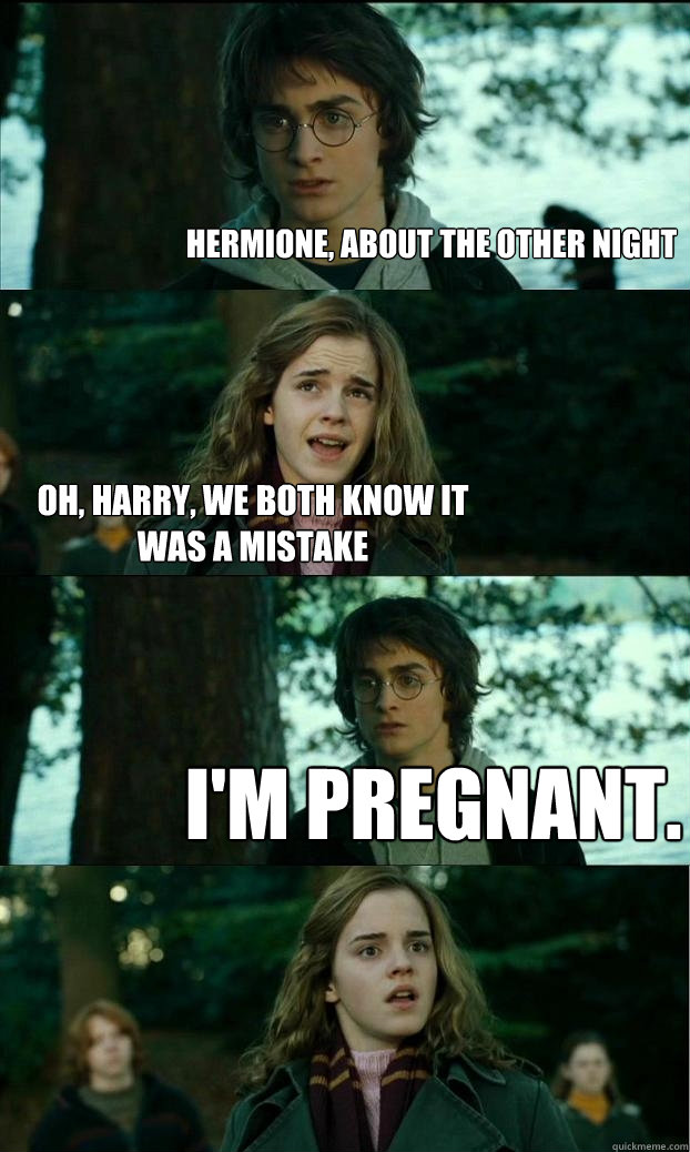 hermione about the other night oh harry we both know it w - Horny Harry