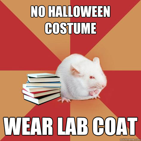 no halloween costume wear lab coat - Science Major Mouse