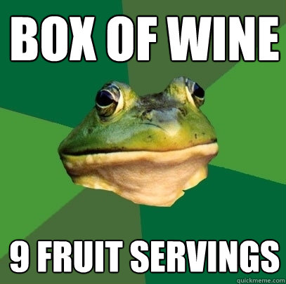 box of wine 9 fruit servings - Foul Bachelor Frog