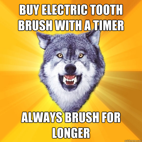buy electric tooth brush with a timer always brush for longe - Courage Wolf
