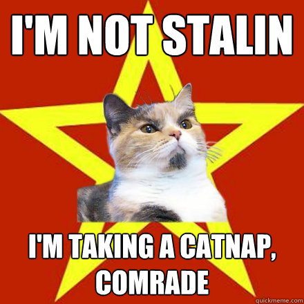 im not stalin im taking a catnap comrade - Lenin Cat