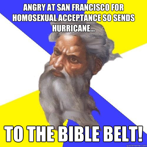 angry at san francisco for homosexual acceptance so sends hu - Advice God