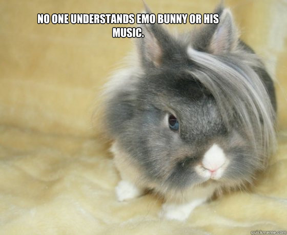no one understands emo bunny or his music - Emo Bunny