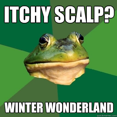 itchy scalp winter wonderland - Foul Bachelor Frog