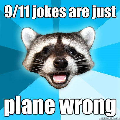 911 jokes are just plane wrong - Lame Pun Coon