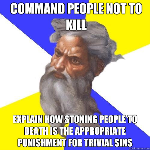command people not to kill explain how stoning people to dea - Advice God