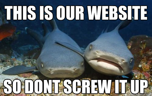 this is our website so dont screw it up - Compassionate Shark Friend