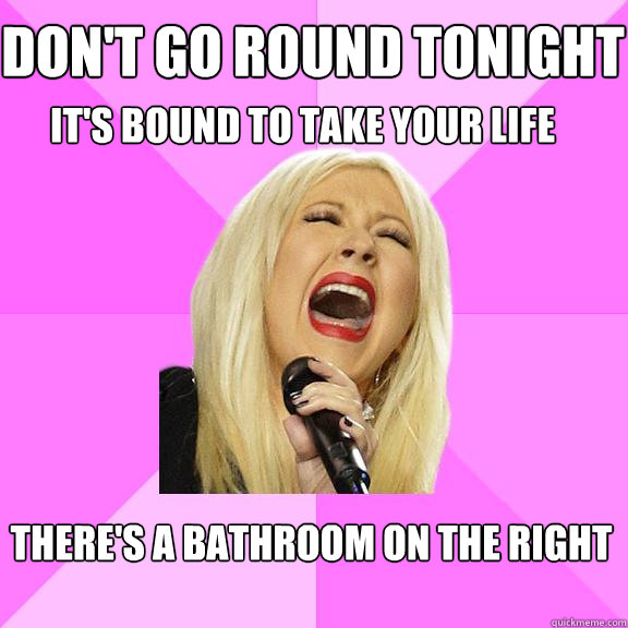 dont go round tonight its bound to take your life theres - Wrong Lyrics Christina