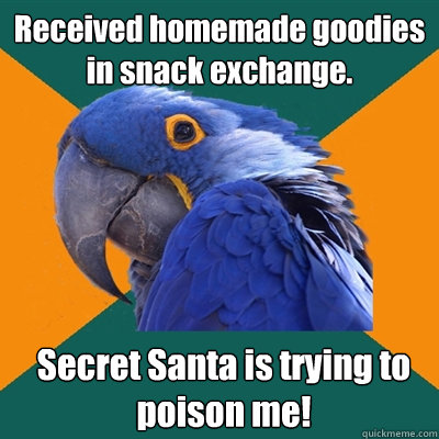 received homemade goodies in snack exchange secret santa is - Paranoid Parrot