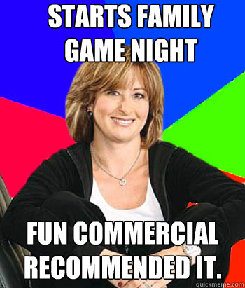 starts family game night fun commercial recommended it - Sheltering Suburban Mom