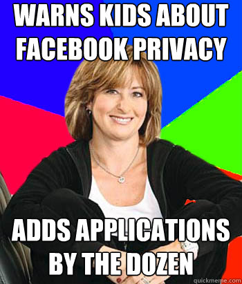 warns kids about facebook privacy adds applications by the  - Sheltering Suburban Mom