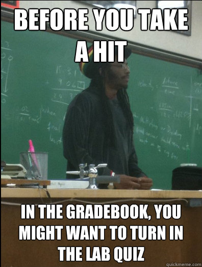 before you take a hit in the gradebook you might want to tu - Rasta Science Teacher