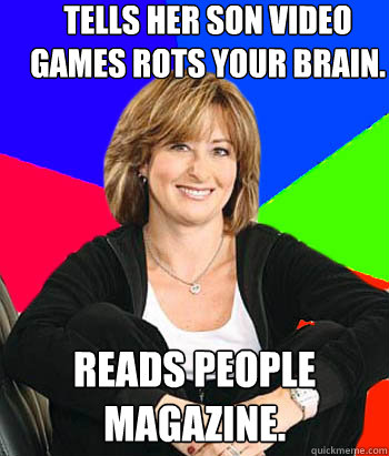 tells her son video games rots your brain reads people maga - Sheltering Suburban Mom