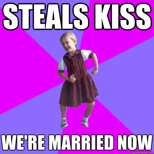 steals kiss were married now - Socially awesome kindergartener