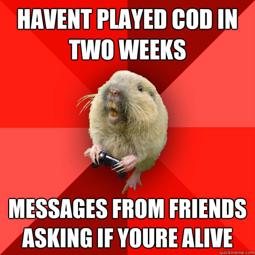 havent played cod in two weeks messages from friends asking  - Gaming Gopher