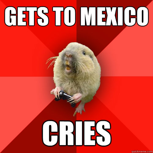 gets to mexico cries - Gaming Gopher