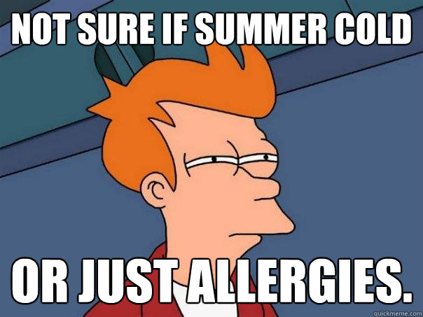 not sure if summer cold or just allergies - Futurama Fry