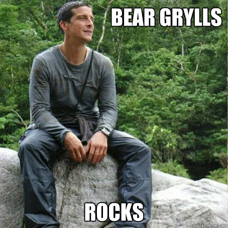 bear grylls rocks - Bear Grylls
