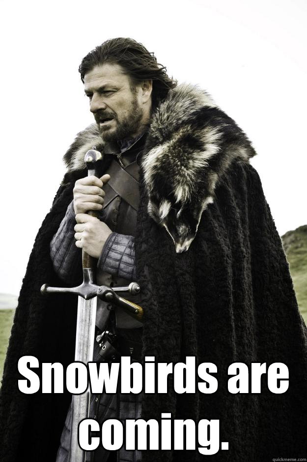 snowbirds are coming - Winter is coming