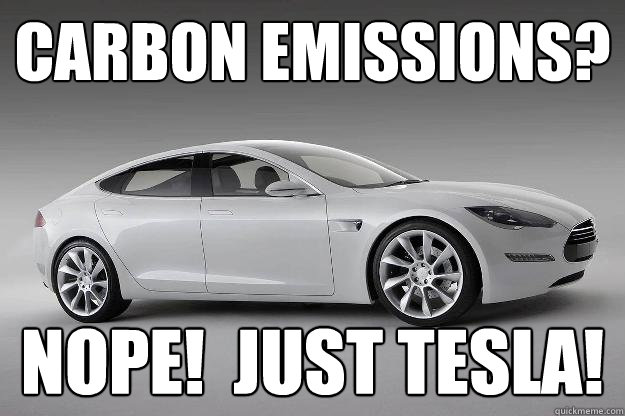 carbon emissions nope just tesla -