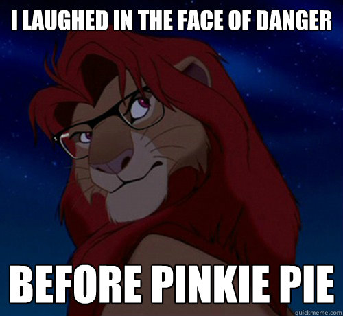 Simba I laugh at danger