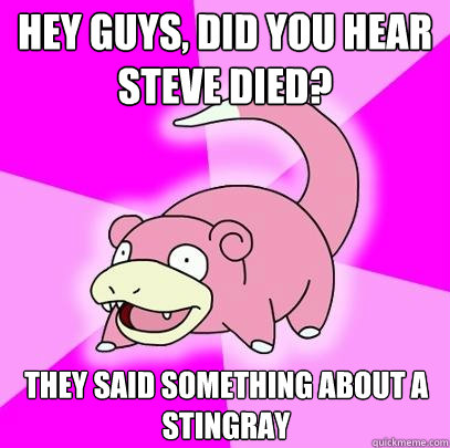 hey guys did you hear steve died they said something about - Slowpoke