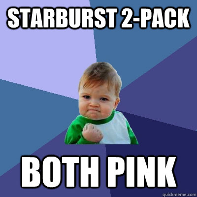 starburst 2pack both pink - Success Kid