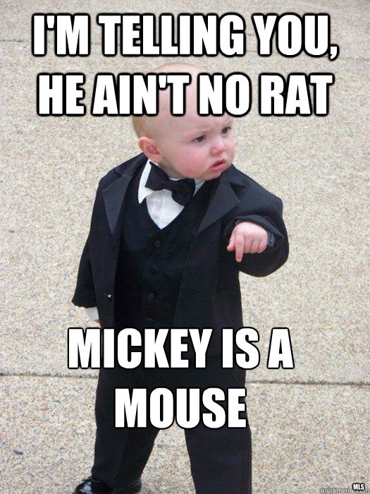 im telling you he aint no rat mickey is a mouse mls - Baby Godfather
