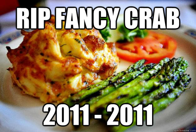 rip fancy crab 2011 2011 - Fancy crab