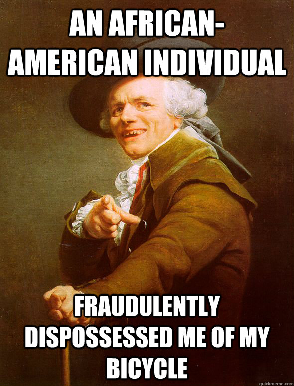 an africanamerican individual fraudulently dispossessed me  - Joseph Ducreux