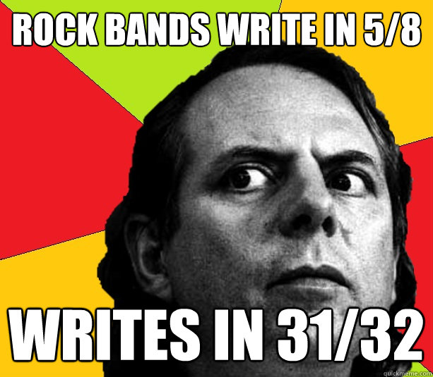 rock bands write in 58 writes in 3132 - Insanity composer