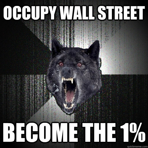 occupy wall street become the 1 - Insanity Wolf