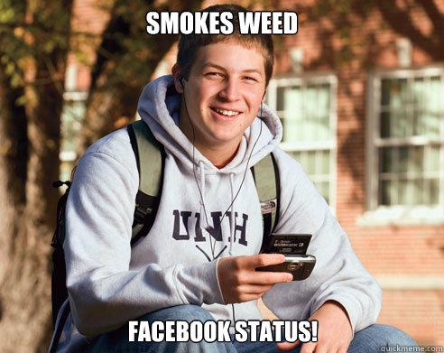 Weed facebook status