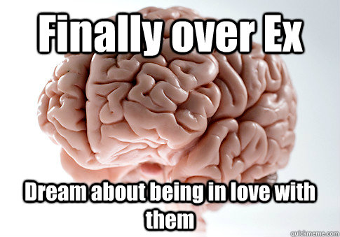 finally over ex dream about being in love with them - Scumbag Brain