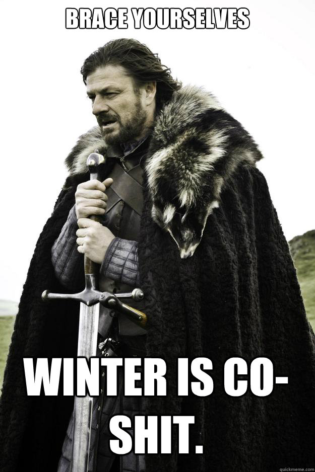 brace yourselves winter is co shit - Winter is coming