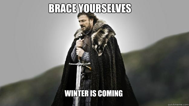 brace yourselves winter is coming - Ned stark winter is coming