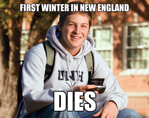 first winter in new england dies - College Freshman