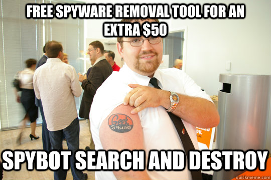 free spyware removal tool for an extra 50 spybot search and - GeekSquad Gus