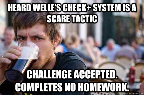 heard welles check system is a scare tactic challenge acce - Lazy College Senior