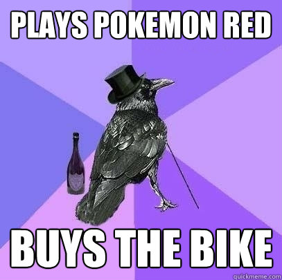plays pokemon red buys the bike - Rich Raven