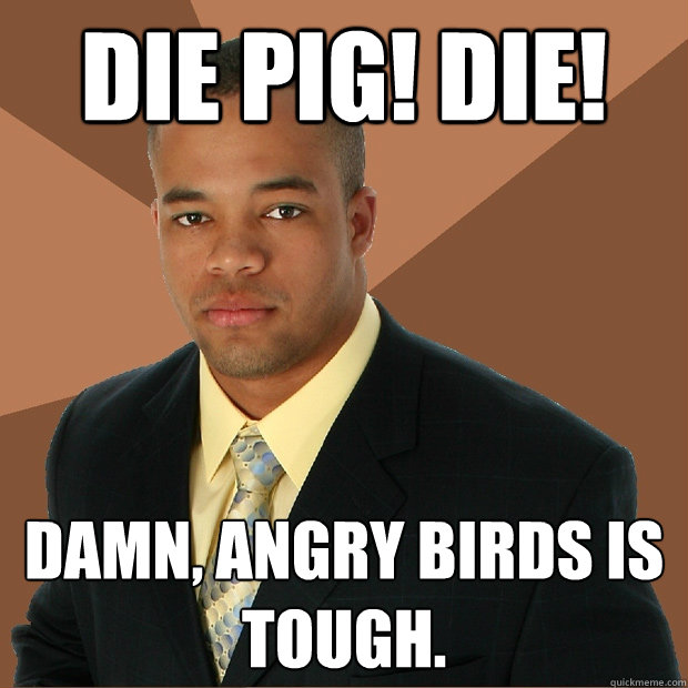 die pig die damn angry birds is tough  - Successful Black Man