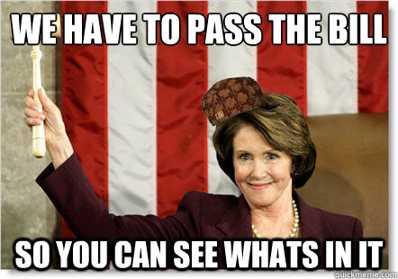 pelosi we have to pass it to see what s in it