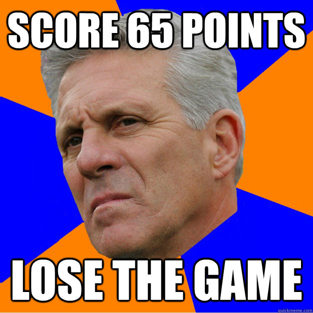 score 65 points lose the game - Uninformed Zook